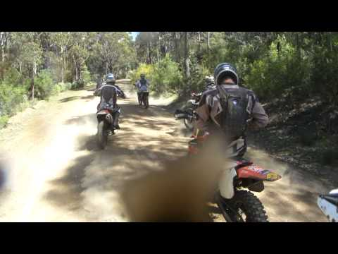 Trail ride becomes a race, Buckland Tasmania.MP4