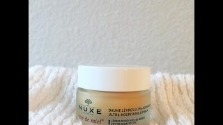 nuxe us cleansing water and lip balm