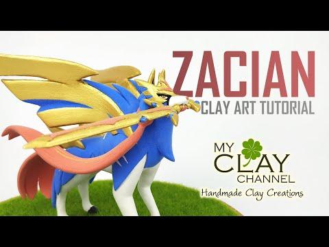 Legendary Pokemon Sword and Shield - Zacian - Clay Art Tutorial thumbnail