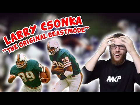 """Rugby Player Reacts to LARRY CSONKA """"The Original Beast Mode"""""""
