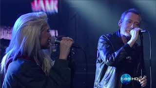 """Jesus and Mary Chain with Sky Ferreira """"The two of us""""  2017 05 16  Late Show with Stephen Colbert"""