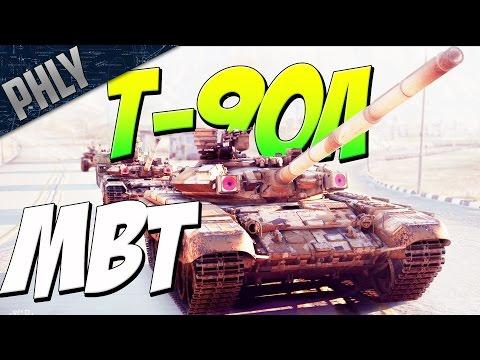 T-90A Main BATTLE TANK & MI-35 Chopper Support (War Thunder Tanks Gameplay)