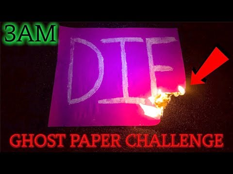 (SCARY) BREAKING ALL THE RULES OF THE GHOST PAPER CHALLENGE AT 3AM (GONE WRONG)