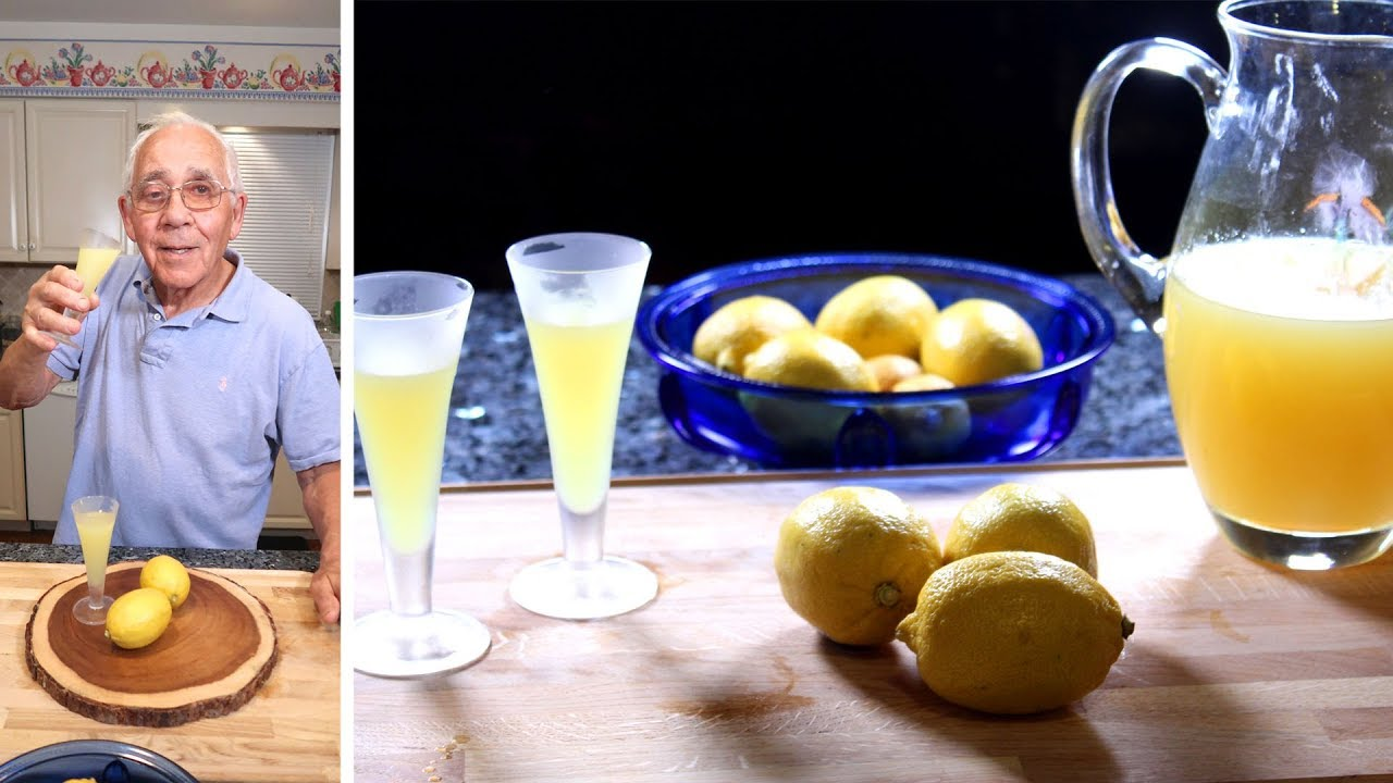 Homemade Limoncello Recipe Youtube