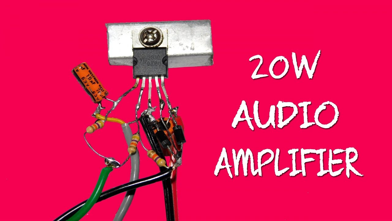 20w Audio Amplifier Circuit Using Tda2030 Youtube