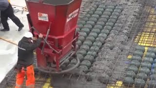 New technologies in construction. Cobiax Installation and Concrete Pouring