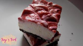 Lemon Raspberry Cheesecake Bars (No-Bake)