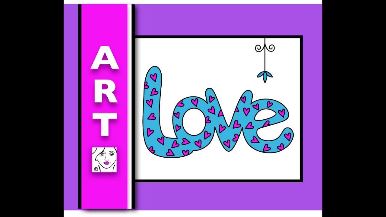 bubble draw letters doodle
