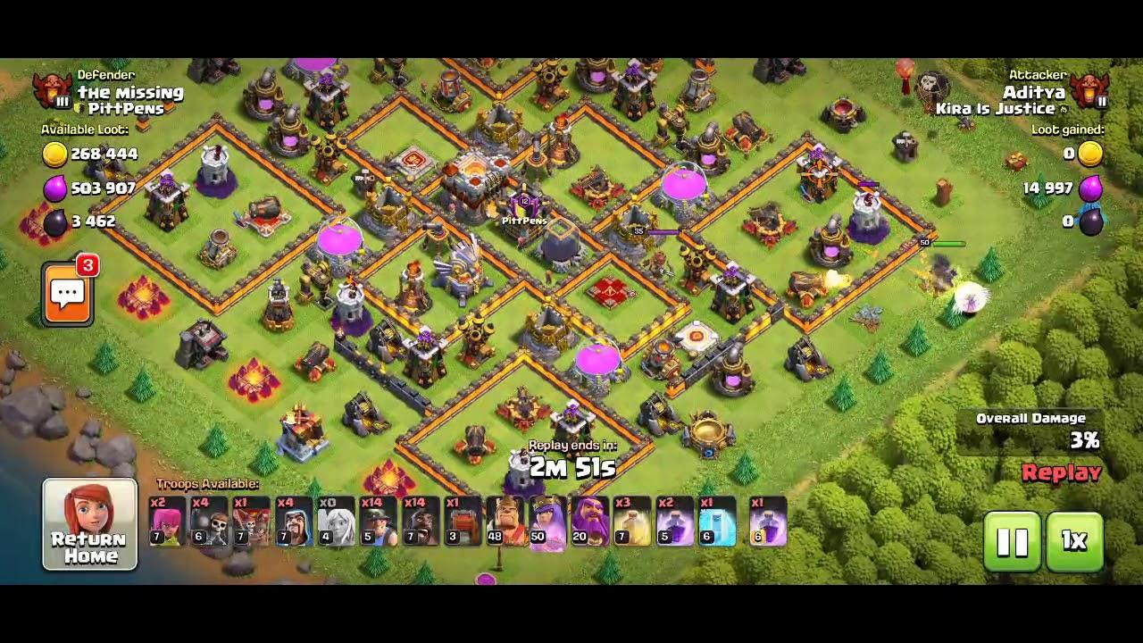 COC | TH 11 | Hog Rider + Miner | Hybrid Attack Strategy ...