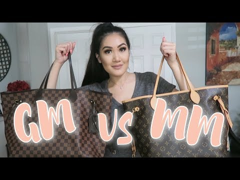 LOUIS VUITTON NEVERFULL GM VS MM & WHICH SHOULD YOU GET?!   Mimi Le