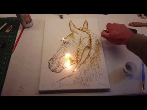 Looking Back - Horse Gunpowder Painting