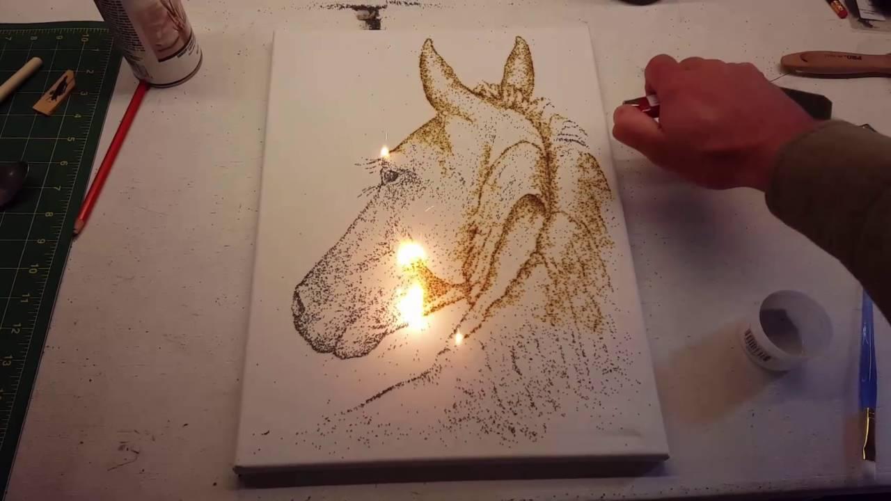 looking back horse gunpowder painting youtube