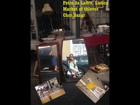 Exploring the Flea market/ feira da ladra/ lisbon