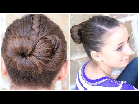 How To Create An Infinity Bun Updo Hairstyles Youtube