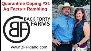 Quarantine Coping #31 - Ag Facts + Rambling - Back Forty Farms