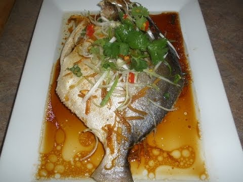 Steamed Golden Pompano Fish