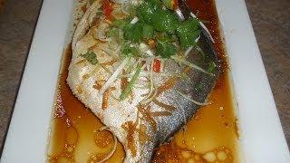 Steamed Golden Pompano Fish