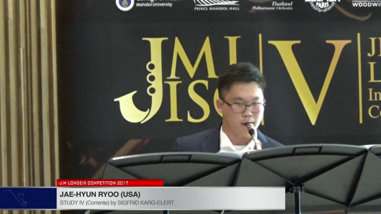 Londeix 2017 - Jae Hyun Ryoo (USA) - IV Corrente by Sigfrid Karg Elert