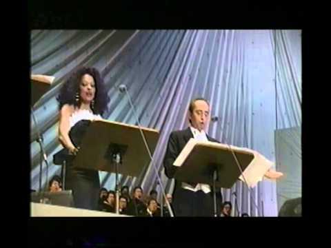 KAWA NO NAGARE, NO YOUNI- Diana Ross, P.Domingo & J. Carreras- live in Osaka-
