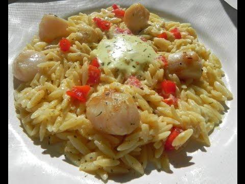 Pan seared sea scallops with garlic aioli orzo youtube pan seared sea scallops with garlic aioli orzo fandeluxe Choice Image