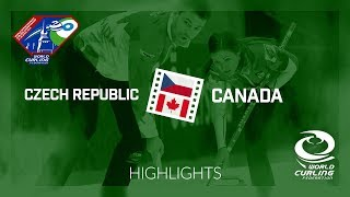 HIGHLIGHTS: Czech Republic v Canada - World Mixed Doubles Curling Championship 2018