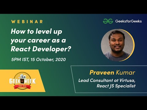 Webinar - How To Level Up Your Career As A React Developer? | GeekWeek Special