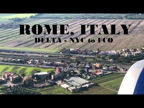 Heading to Rome, Italy | JFK to FCO | Delta Comfort Plus Boeing 767-432 | Flight Report