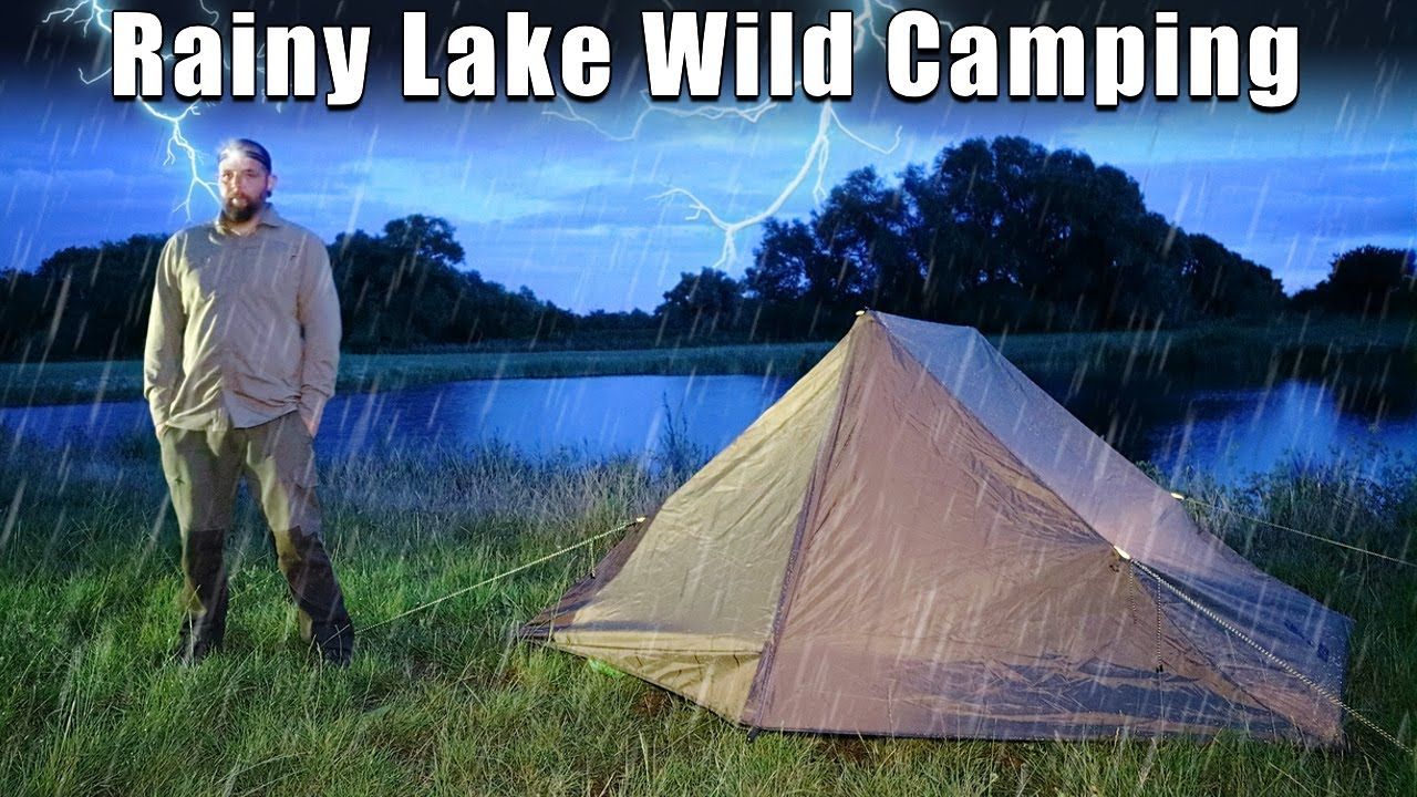 Stormy Wild Camping on a Lake