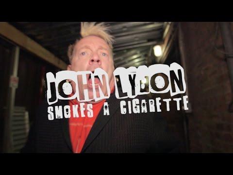 John Lydon Smokes A Cigarette