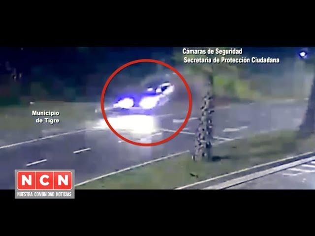 CINCO TV - Alcohol, velocidad y tragedia. se estrelló con una columna, dos jóvenes muertos