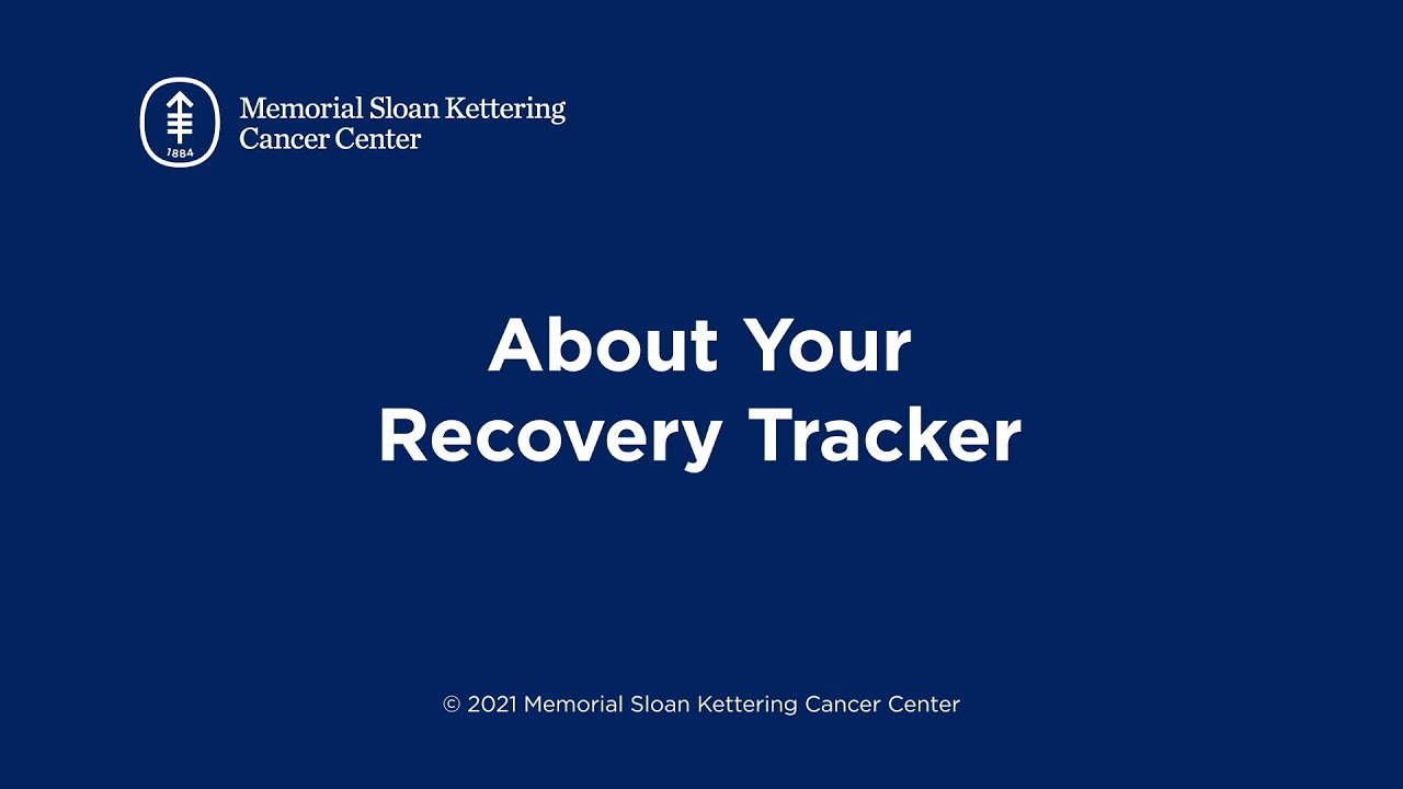 About Your Recovery Tracker