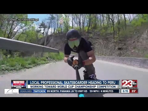 Local skateboarder takes on the world in downhill skateboarding