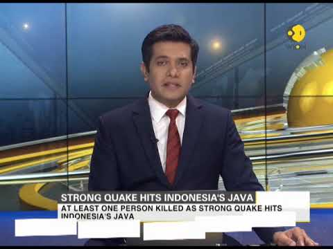 Strong quake hits Indonesia's Java