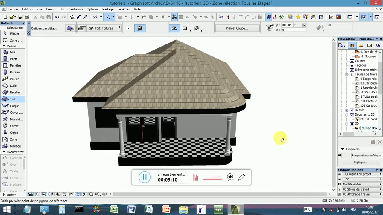 Archicad Tutorial Formation La Toiture Youtube
