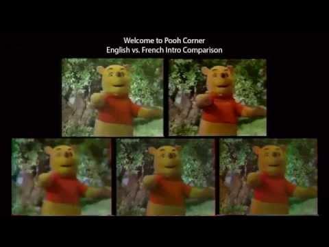 Welcome to Pooh Corner - English vs. French Intro Comparison