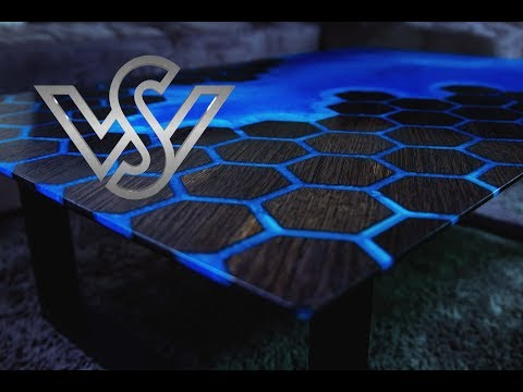 bog oak and epoxy resin coffee table - river table
