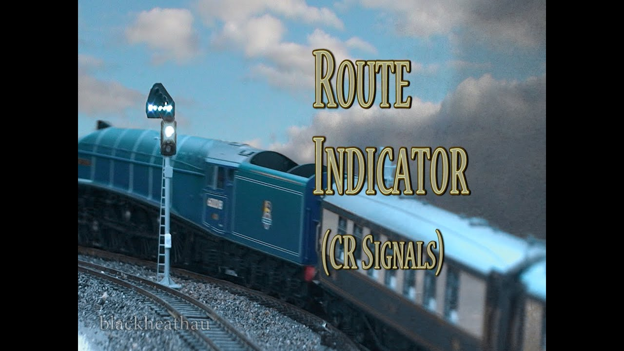 Model Railway - 3 Aspect Signals and Route Indicators DCC - YouTube