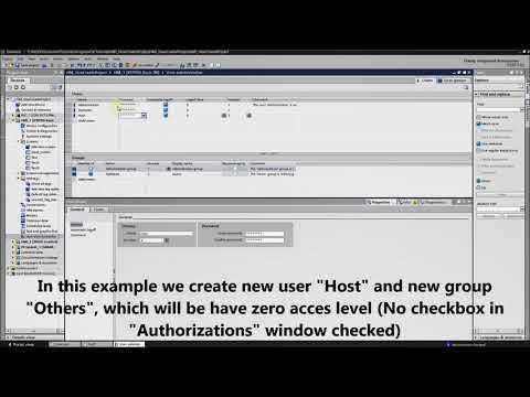 HMI programming tutorial TIA Portal - 6. User administration : Users (Part 1/5) thumbnail
