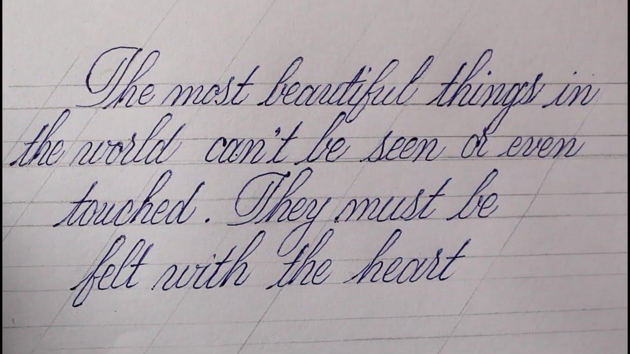 beautiful writing