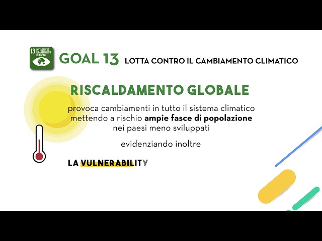 SDG Goal 13: Agire per il clima
