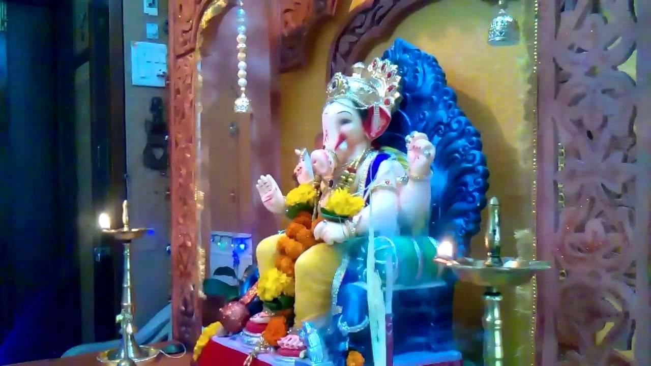 Home Ganpati Decoration 2014 Bhavik Rathod Youtube