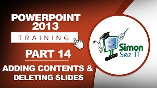 PowerPoint 2013 for Beginners Part 14: Adding Content & Adding and Deleting Slides