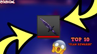 CLAIMING THE ONYX TIER MYTHIC KNIFE! *TOP 10 CLAN PRIZE* (ROBLOX ASSASIN TOP 10 CLAN PRIZE CLAIMED)