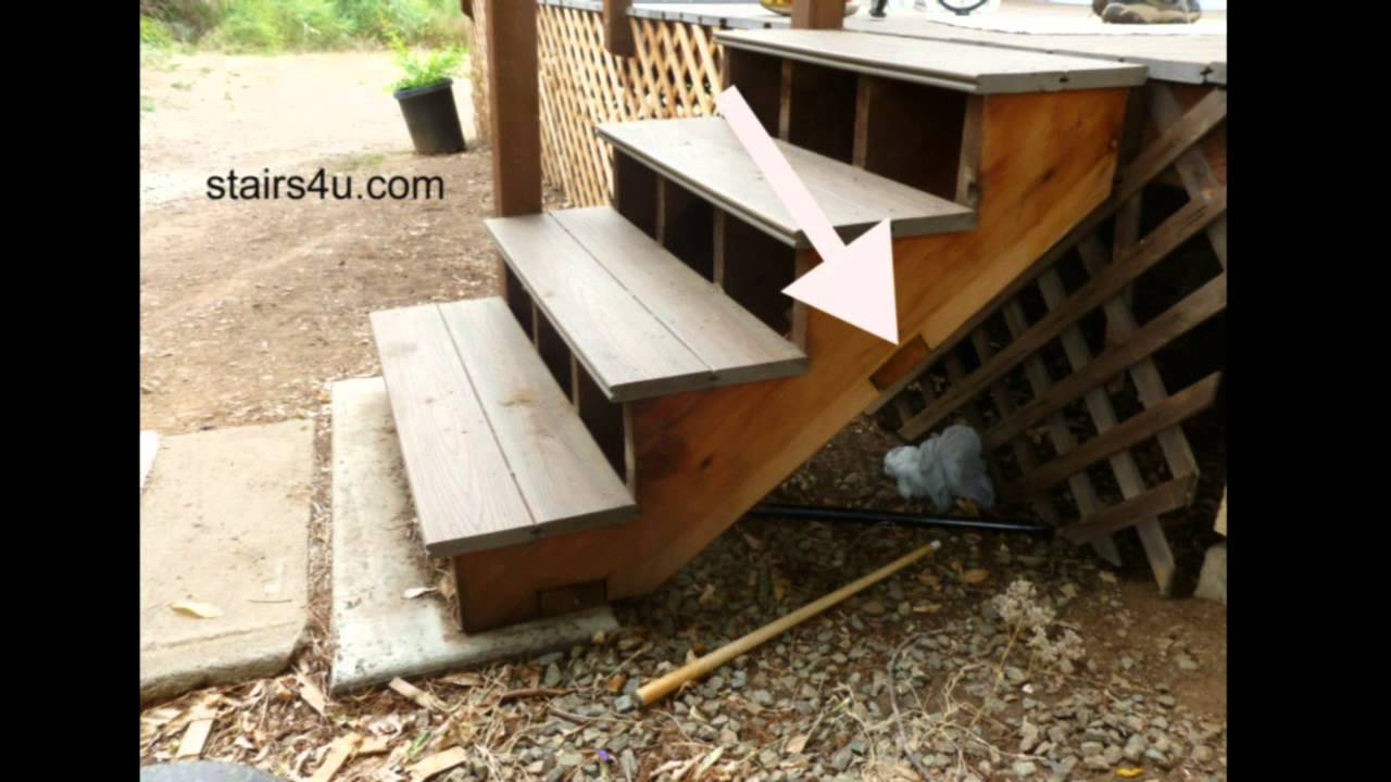 Avoid Notching Bottom Stair Stringers For Nailer Or Bracing   YouTube