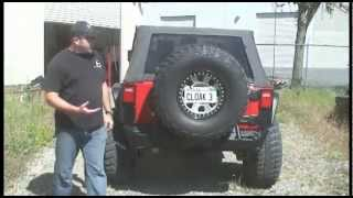 Jk Jeep Wrangler Rear Bumper & Tire Carrier By Metalcloak