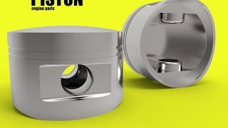 CATIA basic free online training | how to design a piston | car engine | step 5 thumbnail