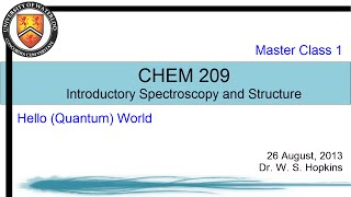 Introductory Spectroscopy - 2 - Hello (Quantum) World
