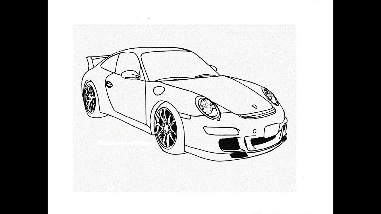 Speed Drawing Porsche 911 911