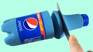 DIY  Pepsi Cola  Sand play  Learn Colors  with Kinetic Sand  for Toddlers Kids by TOY TOYA