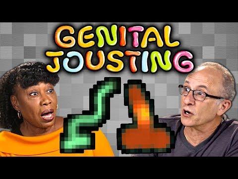 ELDERS Play GENITAL JOUSTING (React: Gaming)